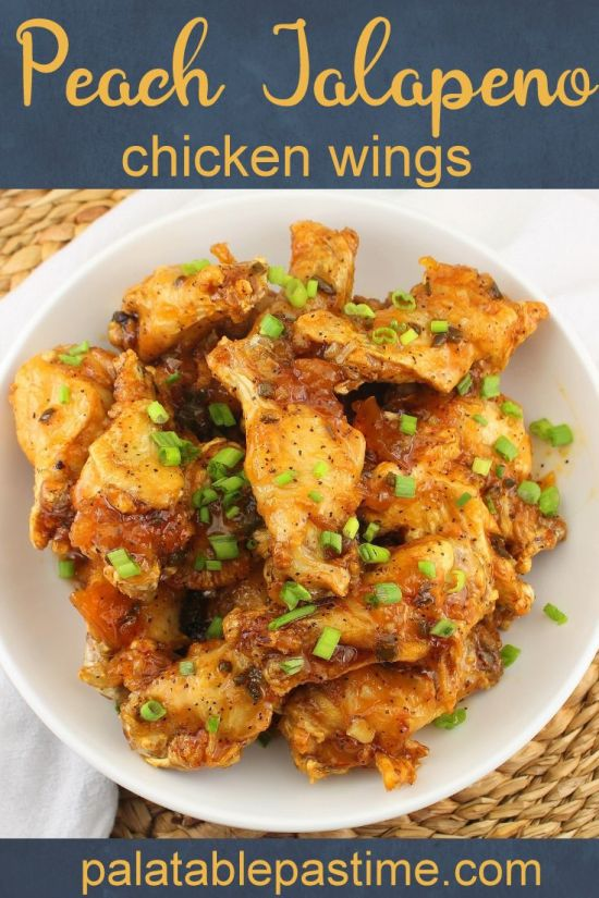 Jalapeno Peach Chicken Wings