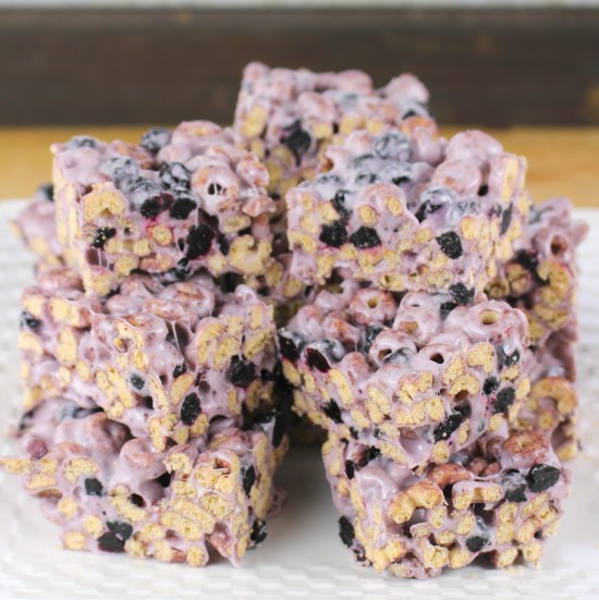 Blueberry Cereal Bars