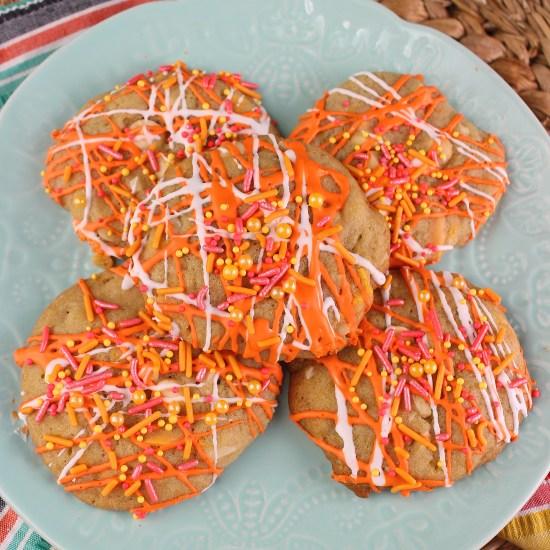 Orange Creamsicle Chip Cookies