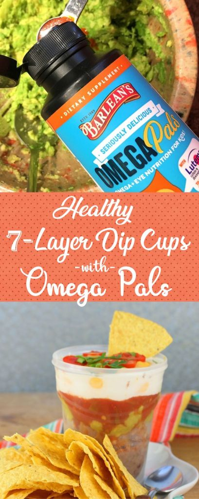 7-Layer Dip Cups with #OmegaPals #Back2School #ad