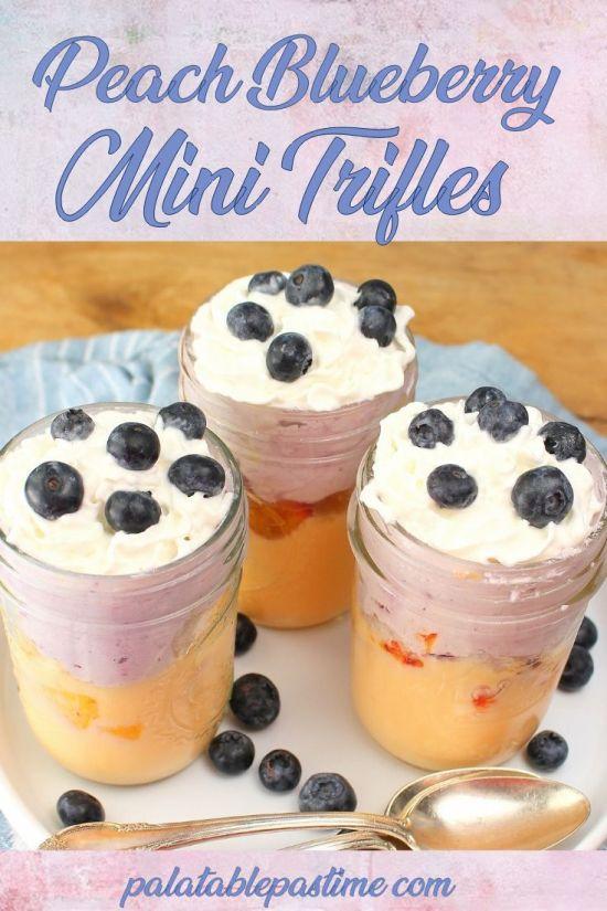 Peach Blueberry Mini Trifles
