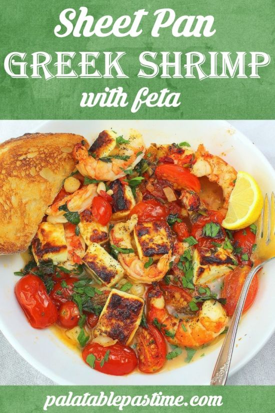 Sheet Pan Greek Shrimp with Feta