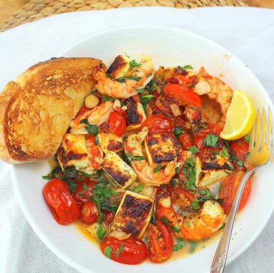 Sheet Pan Greek Shrimp with Feta