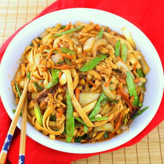 Spicy Chicken Stir-fry Noodles