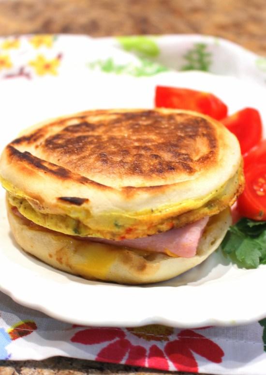 Wester Omelet Breakfast Sandwich