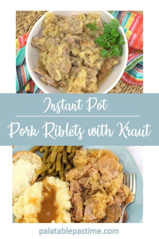 Instant Pot Pork Riblets with Sauerkraut