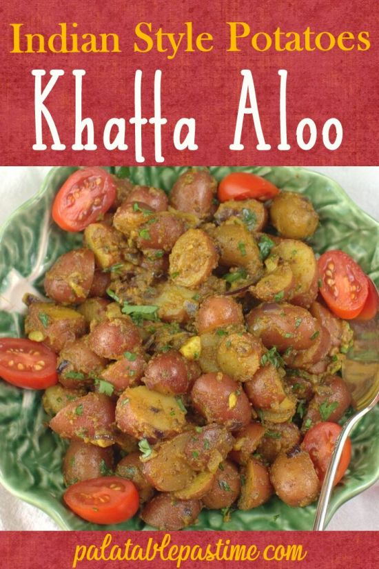 Indian Style Potatoes- Khatta Aloo