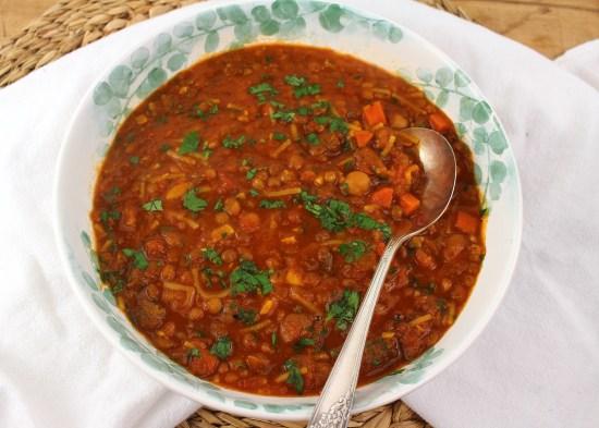 Harira Soup with Merguez Sausage