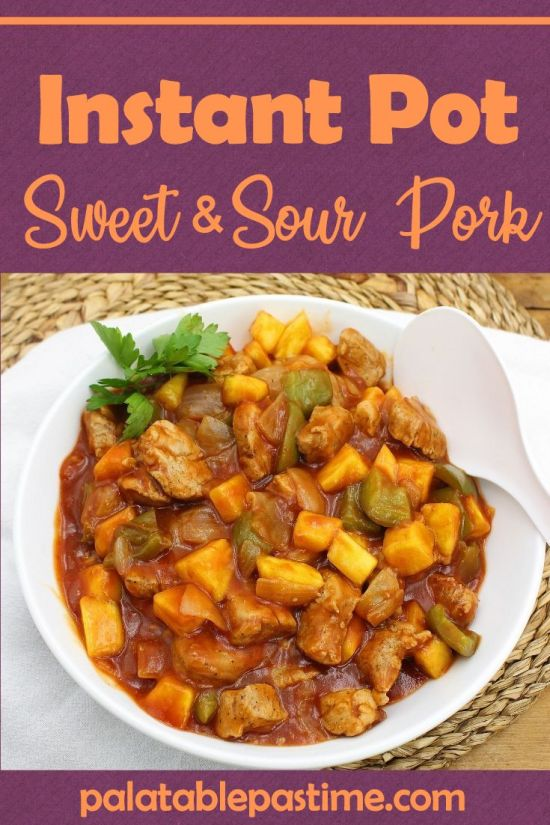 Instant Pot Sweet and Sour Pork