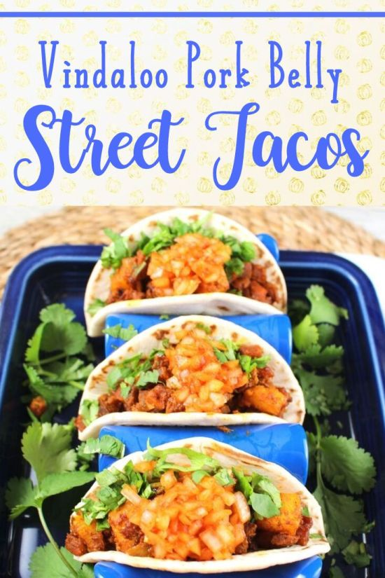 Vindaloo Pork Belly Street Tacos