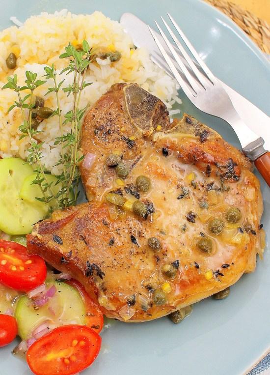 Pork Chops with Rich Caper-Lemon Sauce