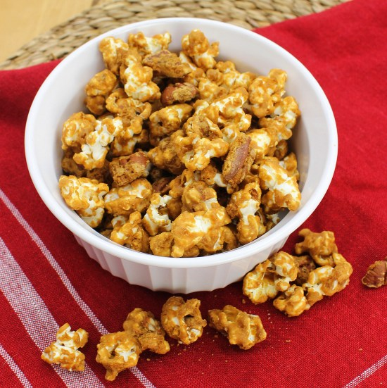 Maple Pecan Caramel Corn