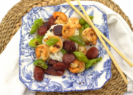 Shrimp and Sausage Stir-Fry