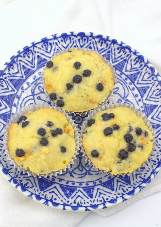 Blueberry Kumquat Muffins
