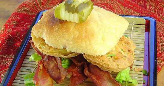 Fried Green Tomato BLT Sandwich