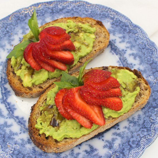 Strawberry Basil Avocado Toast