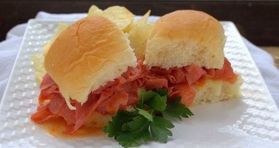 Chipped Chopped Ham Sandwiches