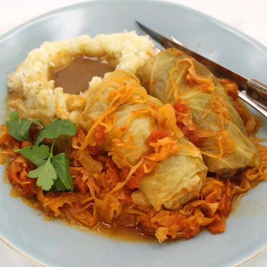 Quick Cabbage Rolls and Sauerkraut