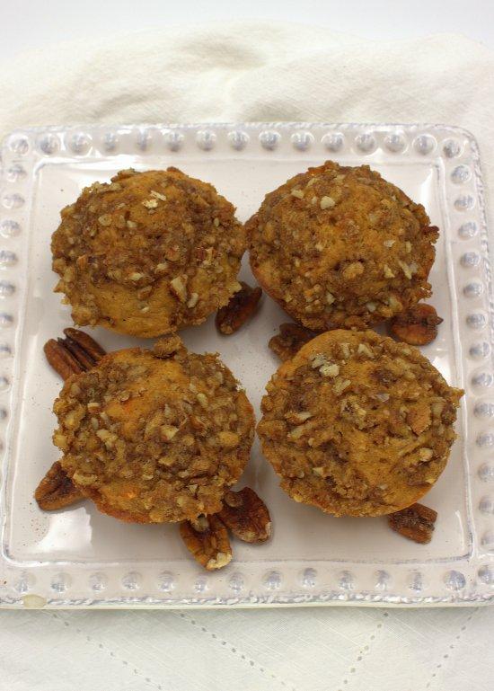 Cinnamon Sweet Potato Muffins