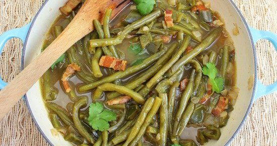 Green Beans with Poblano Peppers