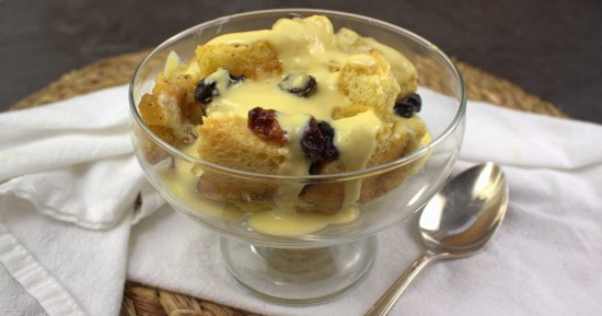 Bread Pudding with Crème Anglaise