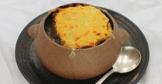 Slow Cooker French Onion Soup with Cheese Toast