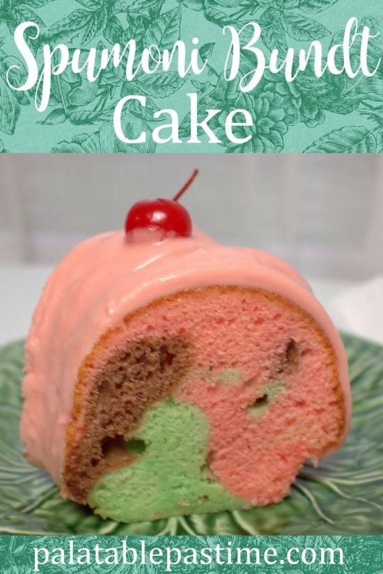 Spumoni Bundt Cake