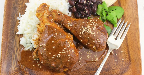 Easy Mole Chicken Drumsticks