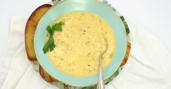 Garlic and Cheese Soup
