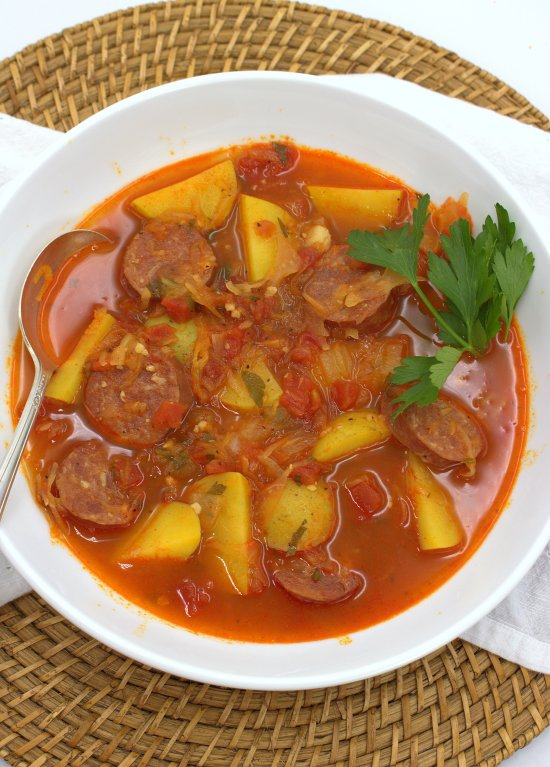Sausage, Potato and Sauerkraut Soup