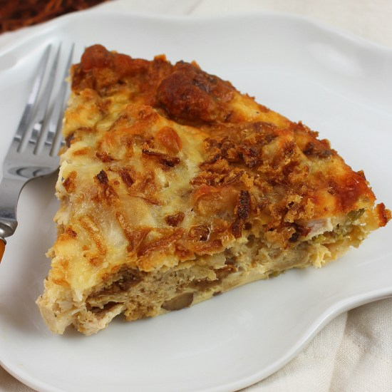 Turkey and Stuffing Quiche