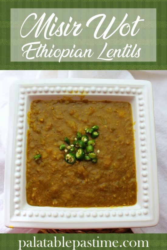 Misir Wot (Ethiopian Lentils)