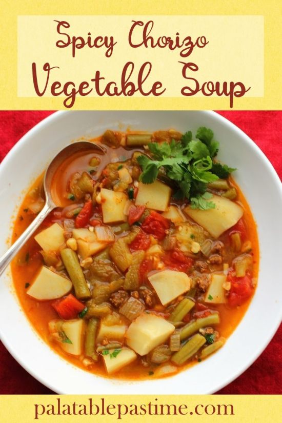 Spicy Chorizo Vegetable Soup