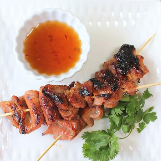 Vietnamese Lemongrass Pork Kebabs