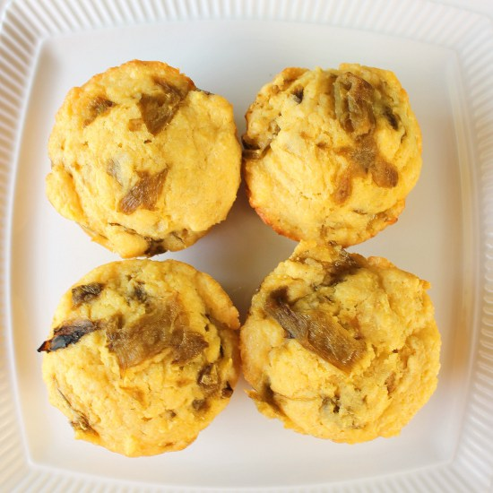 Hatch Green Chile Corn Muffins