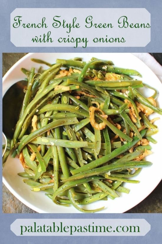 Green Beans with Crispy Onions