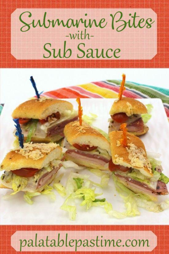 Submarine Bites with Sub Sauce