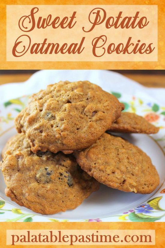 Sweet Potato Oatmeal Cookies