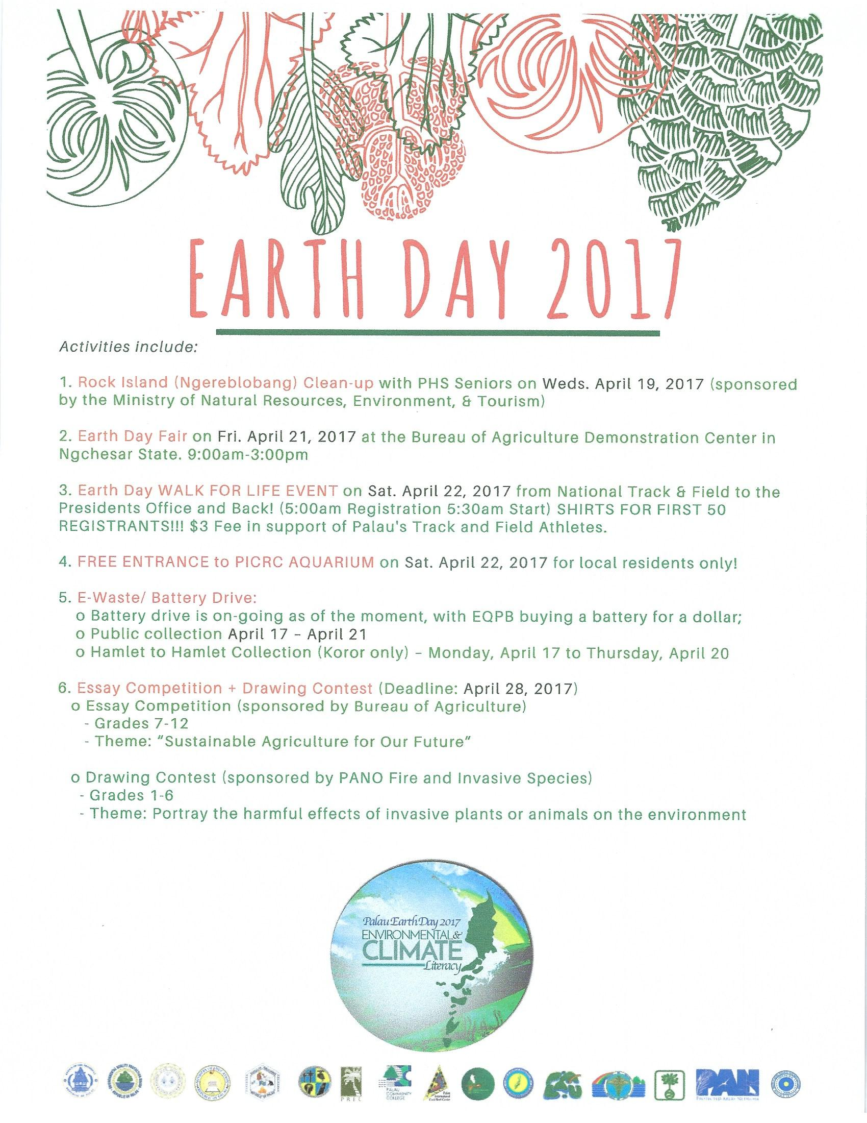 Earth Day Activities And Program Palau National