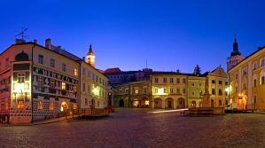Noční náměstí v moravském Mikulově