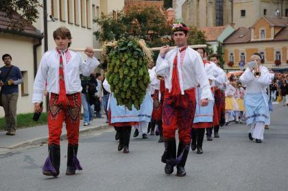 Průvod během tradičního Pálavského vinobraní