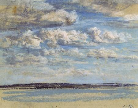 Boudin. Nuages blancs, ciel bleu, 1859