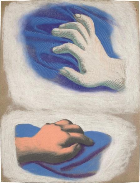 Picasso. Etude des mains, 1921