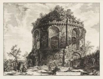 Piranesi. Veduta del Tempio detto della Tosse, 1763