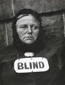 Strand. Blind Woman, New York, 1916