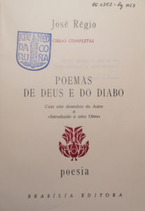 Poemas de Deus e o Diabo de José Régio
