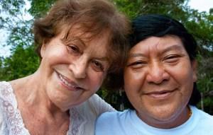 Claudia Andujar e Davi Kopenawa, 2010