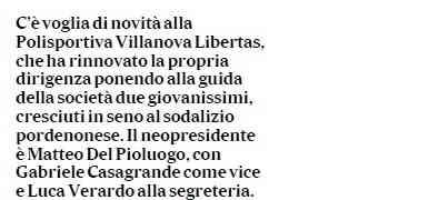 Rassegna stampa: Delpioluogo neopresidente di Villanova, i nuovi corsi e il ne waza cup