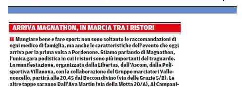 Rassegna Stampa -MAGNATHON
