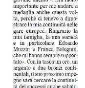 Rassegna stampa: I nostri giovani al Trofeo Città di Pordenone e il bronzo di Kenny sul Gazzettino